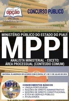 ANALISTA MINISTERIAL - EXCETO: ÁREA PROCESSUAL (CONTEÚDO COMUM)