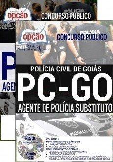 Apostila Concurso PC GO AGENTE DE POLÍCIA SUBSTITUTO Polícia Civil de Goiás - PC-GO