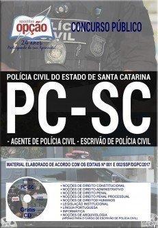 Apostila Concurso PC SC 2017 - AGENTE E ESCRIVÃO DE POLÍCIA CIVIL