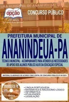 TÉCNICO MUNICIPAL - ACOMPANHANTE DE APOIO DOS ALUNOS EDUCAÇÃO ESPECIAL
