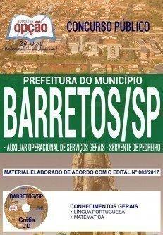 AUXILIAR OPERACIONAL DE SERVIÇOS GERAIS E SERVENTE DE PEDREIRO