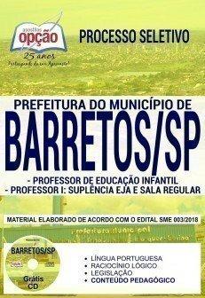 PROF. DE EDUCAÇÃO INFANTIL, PROF. I - SUPLÊNCIA EJA E PROF. I - SALA REGULAR
