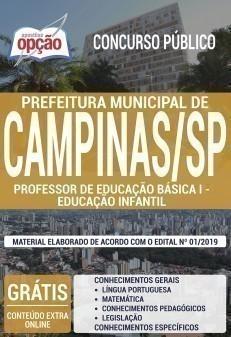 PROFESSOR DE EDUCAÇÃO BÁSICA I - EDUCAÇÃO INFANTIL