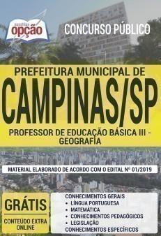 PROFESSOR DE EDUCAÇÃO BÁSICA III - GEOGRAFIA