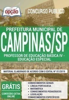 PROFESSOR DE EDUCAÇÃO BÁSICA IV - EDUCAÇÃO ESPECIAL