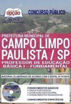 PROFESSOR DE EDUCAÇÃO BÁSICA I - FUNDAMENTAL