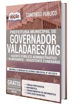 AGENTE PÚBLICO ADMINISTRATIVO, ALMOXARIFE E ASSISTENTE FUNERÁRIO