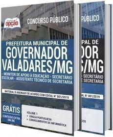 MONITOR DE APOIO À EDUCAÇÃO, SECRETÁRIO ESCOLAR E ASSISTENTE TÉCNICO DE SECRETARIA