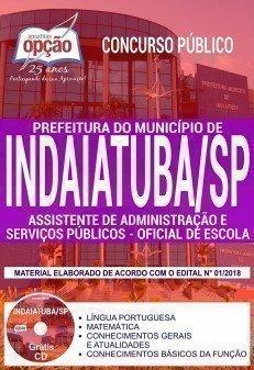 ASSISTENTE DE ADMINISTRAÇÃO E SERVIÇOS PÚBLICOS - OFICIAL DE ESCOLA