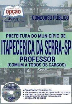 Apostila Prefeitura Itapecerica da Serra 2016 PROFESSOR (COMUM A TODOS OS CARGOS)