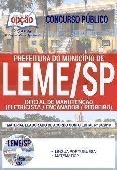 OFICIAL DE MANUTENÇÃO (ELETRICISTA/ ENCANADOR/ PEDREIRO)