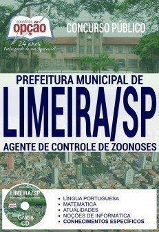 Apostila Concurso Prefeitura de Limeira 2017 - AGENTE DE CONTROLE DE ZOONOSES