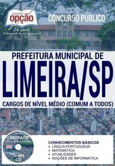 apostila Prefeitura de Limeira para todos os CARGOS DE NÍVEL MÉDIO (COMUM A TODOS)