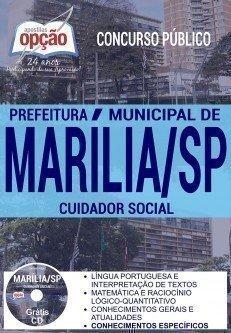 Apostila Concurso Prefeitura de Marília 2017 - CUIDADOR SOCIAL