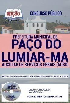 AUXILIAR DE SERVIÇOS GERAIS (AOSD)