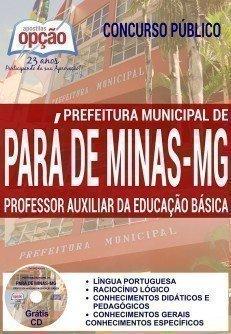 PROFESSOR AUXILIAR DA EDUCAÇÃO BÁSICA