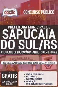 ATENDENTE DE EDUCAÇÃO INFANTIL - 30 E 40 HORAS