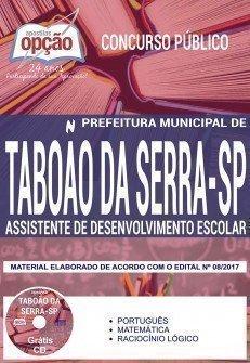 Apostila Concurso Prefeitura de Taboão da Serra 2018 | ASSISTENTE DE DESENVOLVIMENTO ESCOLAR