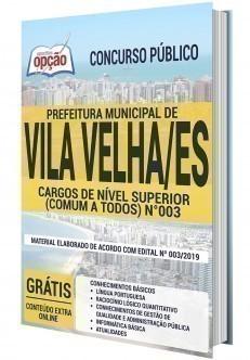 CARGOS DE NÍVEL SUPERIOR (COMUM A TODOS - EDITAL Nº 003)