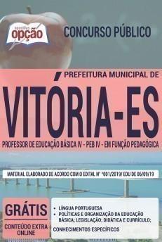 PROFESSOR DE EDUCAÇÃO BÁSICA IV - PEB IV - EM FUNÇÃO PEDAGÓGICA