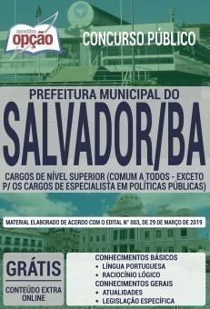 CARGOS DE NÍVEL SUPERIOR (COMUM - EXCETO PARA ESPEC. EM POLÍTICAS PÚBLICA)