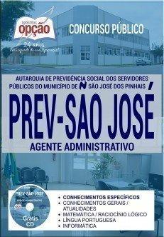 Apostila Concurso PREV São José 2017 - AGENTE ADMINISTRATIVO