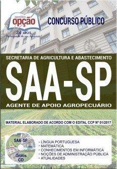 Apostila Concurso SAA SP 2017 | AGENTE DE APOIO AGROPECUÁRIO
