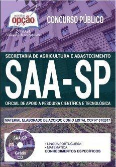 OFICIAL DE APOIO A PESQUISA CIENTÍFICA E TECNOLÓGICA