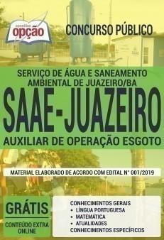 AUXILIAR DE OPERAÇÃO ESGOTO