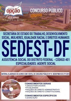 ASSISTÊNCIA SOCIAL DO DISTRITO FEDERAL - AGENTE SOCIAL