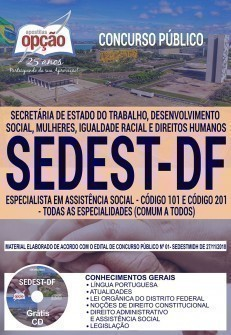 ESPECIALISTA EM ASSISTÊNCIA SOCIAL - CÓD. 101 E 201 (COMUM A TODOS)