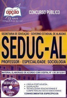 PROFESSOR - ESPECIALIDADE: SOCIOLOGIA