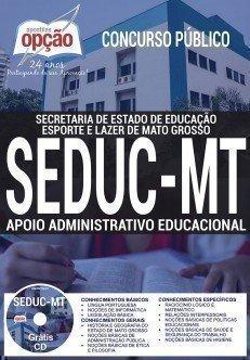 Apostila Concurso SEDUC MT 2017 | APOIO ADMINISTRATIVO EDUCACIONAL