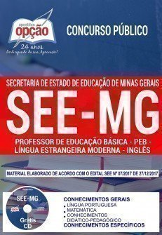 PROFESSOR DE EDUCAÇÃO BÁSICA - PEB -  LÍNGUA ESTRANGEIRA MODERNA - INGLÊS