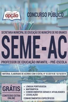 PROFESSOR DA EDUCAÇÃO INFANTIL - PRÉ-ESCOLA
