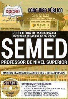 Apostila Concurso SEMED Manaus 2018 | PROFESSOR DE NÍVEL SUPERIOR (COMUM A TODOS)