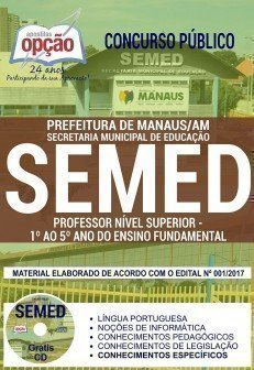 PROFESSOR NÍVEL SUPERIOR - 1.° AO 5.° ANO DO ENSINO FUNDAMENTAL