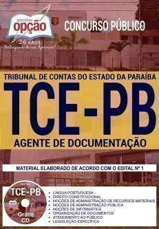 Apostila Concurso TCE PB 2018 | AGENTE DE DOCUMENTAÇÃO