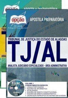 Apostila Concurso TJ AL 2018 | ANALISTA JUDICIÁRIO ESPECIALIZADO – ÁREA ADMINISTRATIVA