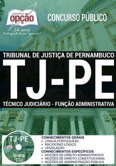 Apostila Tribunal de Justiça-PE - Técnico Judiciário: Área Administrativa.