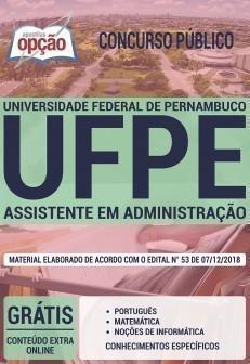 Apostila da UFPE 2019 - Assistente em Administração.