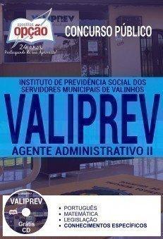 Apostila Concurso VALIPREV 2017 | AGENTE ADMINISTRATIVO II