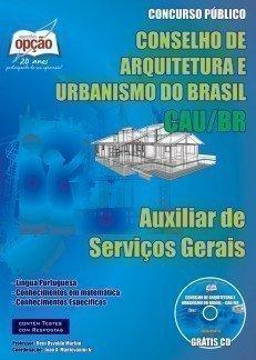 Apostila Auxiliar De Serviço Gerais - Concurso Conselho De Arquitetura E Urbani...