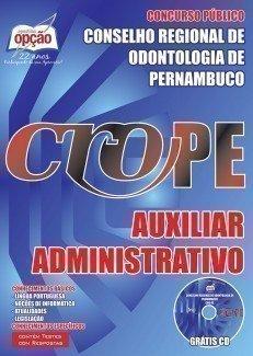 Conselho Regional de Odontologia / PE (CRO/PE)-FISCAL-AUXILIAR DE FISCALIZAÇÃO-AUXILIAR ADMINISTRATIVO