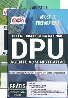 concurso defensoria publica da uniao dpu cargo agente administrativo 2528.jpg?versao=0 - Concurso DPU 2015: Saiu o edital para 143 vagas