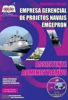 Apostila Emgepron Cursos Técnicos da ETAM da Marinha, ASSISTENTE ADMINISTRATIVO