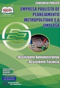 Apostila Assistente Administrativo E Assistente Técnico - Concurso Emplasa...