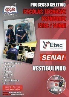 Apostila Vestibulinho Escolas Técnicas Estaduais SENAI - Etec.