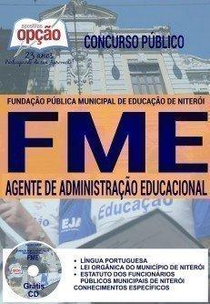 Apostila Prefeitura de Niterói - Concurso FME 2016 para AGENTE DE ADMINISTRAÇÃO EDUCACIONAL