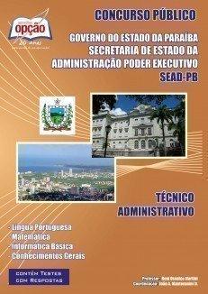 Apostila Técnico Administrativo - Concurso Governo Do Estado / Pb (sead)...